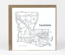 Circle Map of Louisiana