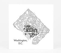 Circle Map of Washington D.C.