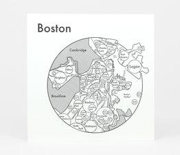 Circle Map of Boston
