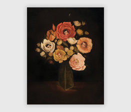 Still Life with Live Flowers