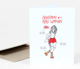 Anatomy of a Rad Woman (Red)
