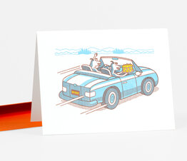 Dogs with Cake in Getaway Car