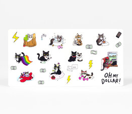 Clear Cat Planner Stickers
