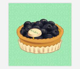 Bar Luce Tart: Blueberry