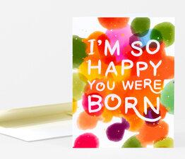 I'm So Happy You Were Born Confetti