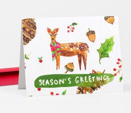 Season's Greetings Holiday Deer