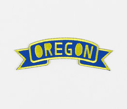 Oregon Banner (Blue & Yellow)