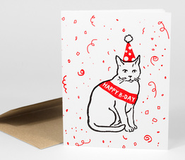 Happy B-Day (Party Cat)