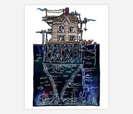 3 Story House at Sea