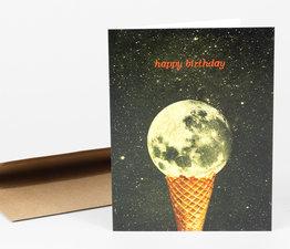 Happy Birthday Ice Cream Moon