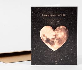 Happy Valentine's Day Heart Moon