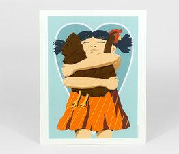 Girl Hearts Hen