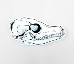 Glitter Fox Skull