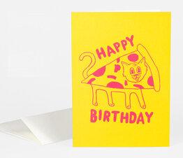 Happy Birthday (Pizza Cat)